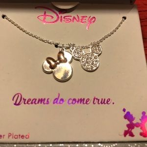 Disney Mickey and Minnie necklace NWT in box